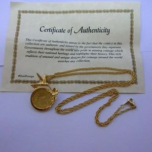 Authentic Republic of Trinidad 1cent coin Necklace